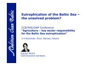 Eutrophication of the Baltic Sea – the unsolved problem?