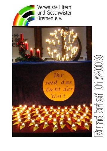 Rundbrief Nr. 1 - Verwaiste Eltern und Geschwister Bremen eV
