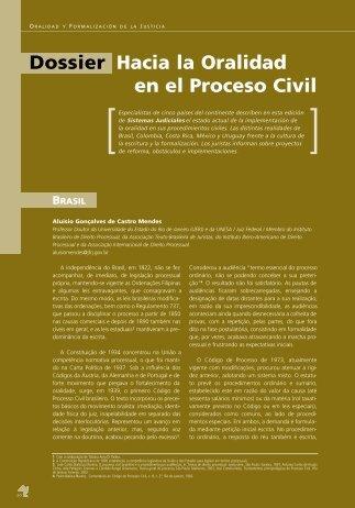 Dossier Hacia la Oralidad en el Proceso Civil - Revista Sistemas ...