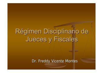 Régimen Disciplinario de Jueces y Fiscales - Colegio de Abogados ...