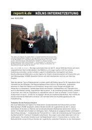 Artikel des report-k.de Kölns Internettzeitung vom 18.12 ... - VESBE eV