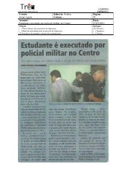Veículo: Jornal Agora Editoria: Polícia Coluna: -- Página ... - Semsa