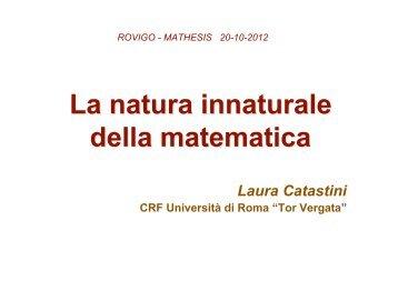 La natura innaturale della matematica - Mathesis