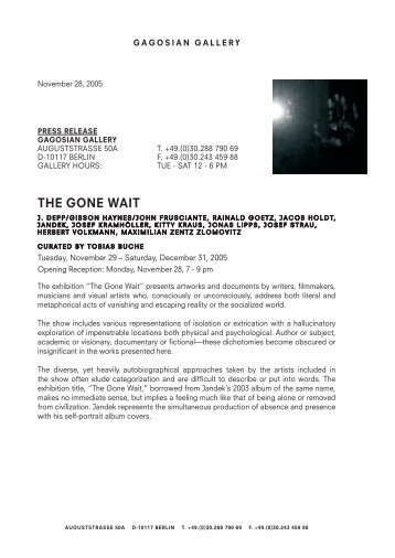 the gone Wait - 4th berlin biennial for contemporary art