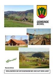 Baulanddokumentation - Bowil