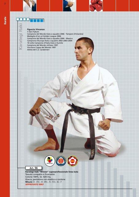 53 Omologato WKF Itaki Karategi da Kumite Champion Line Art