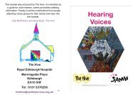 Hearing Voices - Scottish Association for Mental Health