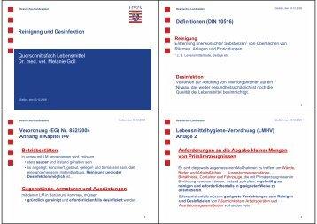Reinigung und Desinfektion (+ Biofilm) - Fachbereich 10 ...