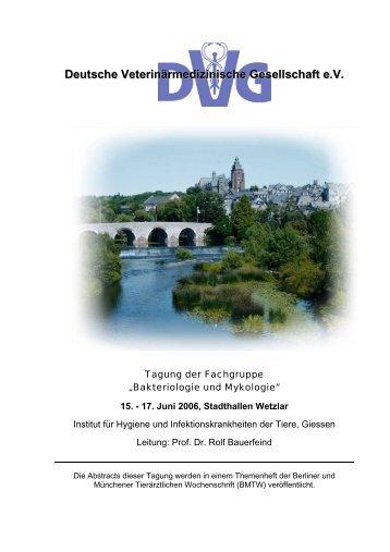 Deutsche Veterinärmedizinische Gesellschaft e.V. - Fachbereich 10 ...