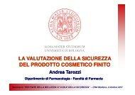 Relazione Tarozzi Andrea - CNA Emilia Romagna