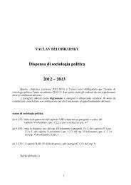 dispensa pol 2012-13- def - Scienze Politiche