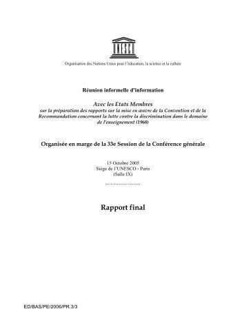 Réunion informelle d'information - unesdoc - Unesco