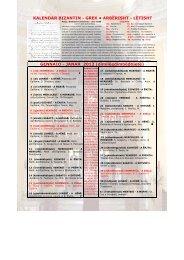 calendario liturgico bizantino-greco in arberesh e italiano 2012