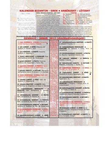 Calendario Greco.Lingueminoritarie E Musiweb Org Magazines