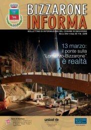 Bollettino comunale Marzo 2013 - Comune di Bizzarone