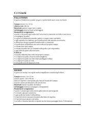 I giochi (Pdf-90 KB) - Formazione CSI