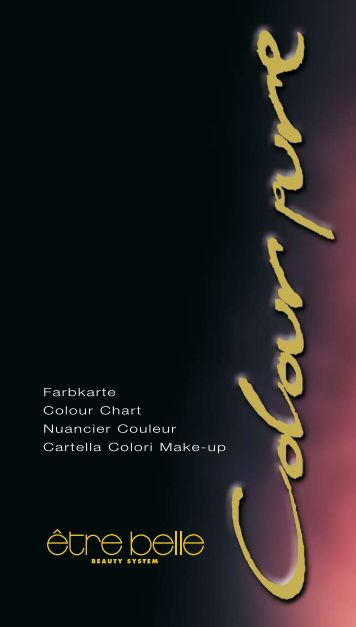 Farbkarte Colour Chart Nuancier Couleur Cartella ... - Kosmetik Kiefer