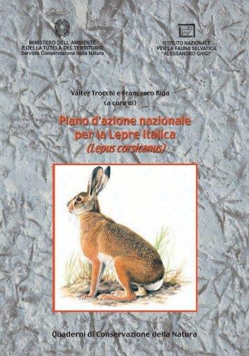 Direzione per la Conservazione della Natura-QCN-Piano di azione ...