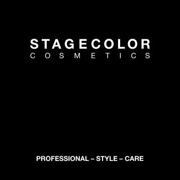 Catalogue – STAGECOLOR - Jean-Pierre Rosselet Cosmetics AG