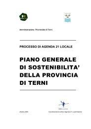 PIANO GENERALE DI SOSTENIBILITA' DELLA PROVINCIA DI TERNI