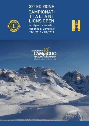 32° EDIZIONE CAMPIONATI ITALIANI LIONS OPEN - xxxii ...