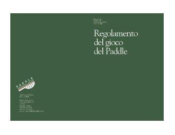 Regolamento Gioco Paddle.pdf - Paddleitalia.It