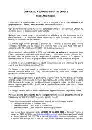 CAMPIONATO A SQUADRE UNDER 10 e UNDER ... - SporTrentino.it