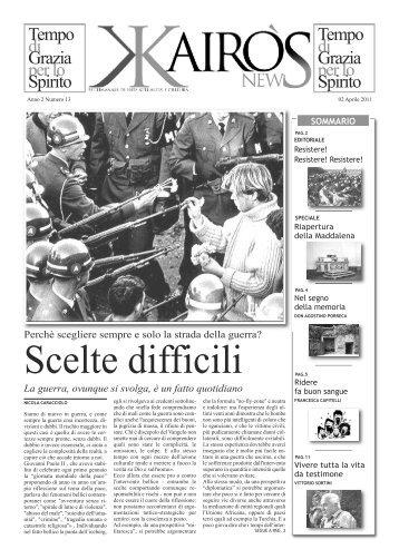 n° 13 del 02 Aprile - Parrocchia Santi Filippo e Giacomo