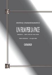 CATALOGO FESTIVAL UN FILM PER LA PACE 2008