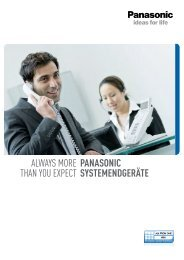 Panasonic - Systemendgeräte - COMP.net GmbH