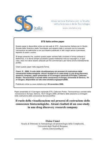 Il ruolo della visualizzazione nei processi di costruzione ... - STS Italia