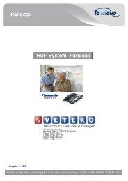 Ruf-System PANACALL - VeTeKo