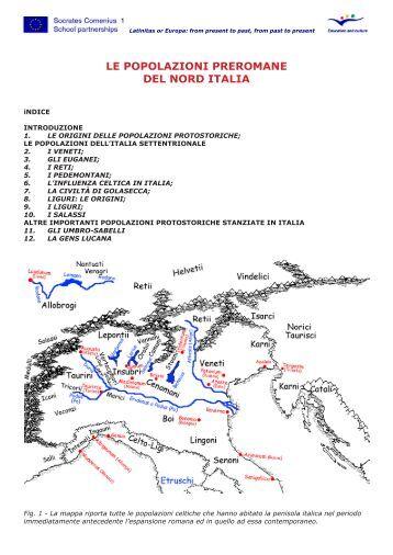 le popolazioni preromane del nord italia - Latinitas or Europa