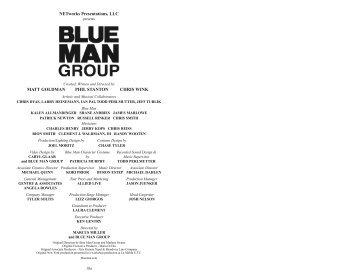 Blue Man Group.pdf - Fox Cities Performing Arts Center