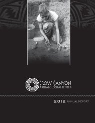 Annual Report - Crow Canyon Archaeological Center