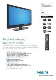 32PFL7962D/12 Philips Flat TV mit Ambilight 2-Kanal und Pixel Plus ...