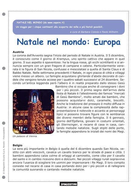 La Leggenda Della Stella Di Natale Scuola Primaria.Natale Nel Mondo Europa Scuola Primaria