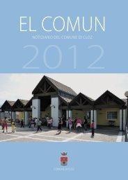 Notiziario comunale 2012 - Comune di Cloz