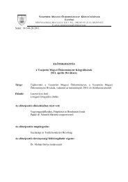Tájékoztató a Megyei Önkormányzat, a Veszprém Megyei ...
