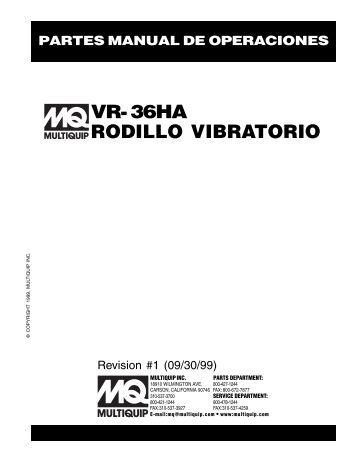 vr ? 36ha ? manual de servicio - Multiquip Inc.