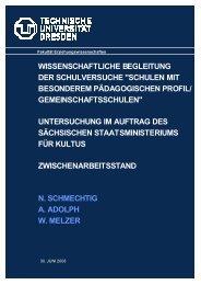 Wissenschaftliche Begleitung der Schulversuche - Schule und ...