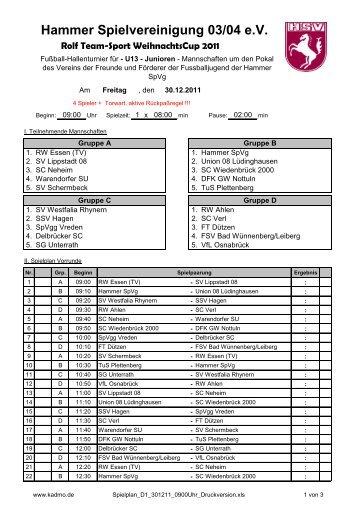 Hammer Spielvereinigung 03/04 e.V. - VfL Osnabrück