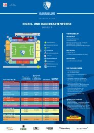 Price list Season 2010/11 - VfL Bochum
