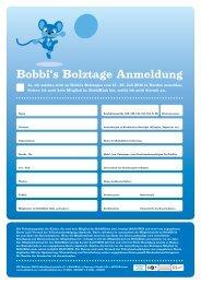 Bobbi's Bolztage Anmeldung - VfL Bochum