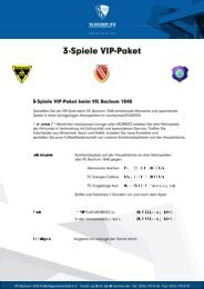 5-SpieIe VIP-Paket - VfL Bochum