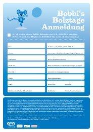 Anmeldeformular Bolztage 15. bis 18. August - VfL Bochum