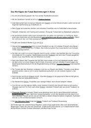 Futsal Regeln