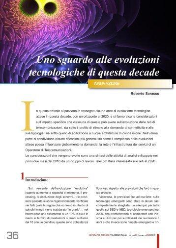 36 1 Uno sguardo alle evoluzioni tecnologiche di ... - Telecom Italia