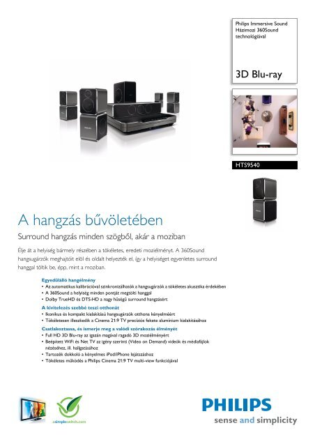 HTS9540/12 Philips Házimozi 360Sound technológiával