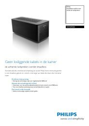 PHILIPS RWSS9500/00 TV meubelen datasheet - EASI-SHOP